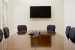 tv and audio in conference room
