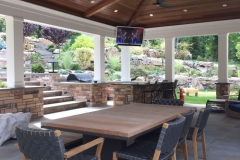 media outdoor dining area with TV