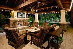 outdoor tv and sound system